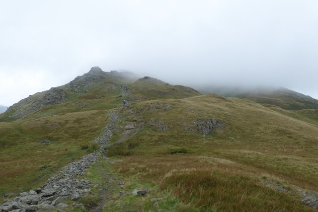 Approaching Lord's Crag