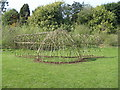 NT2469 : Willow structure in Braidburn Valley Park by M J Richardson