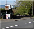 SO1422 : Llangors direction and distance sign in Bwlch, Powys by Jaggery