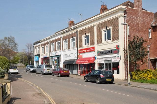 Cranford Parade shops at Littleham Cross, Exmouth
