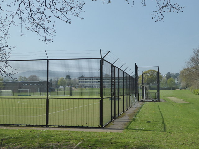 Sports courts and Sidmouth College