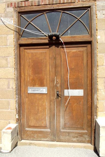 Old library door