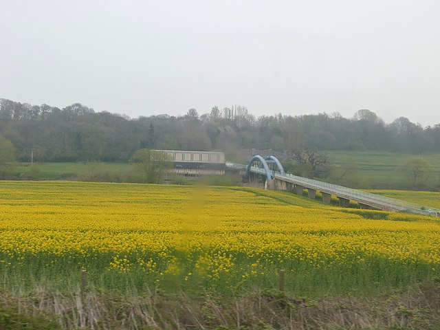 Rapeseed fields beside the River Severn