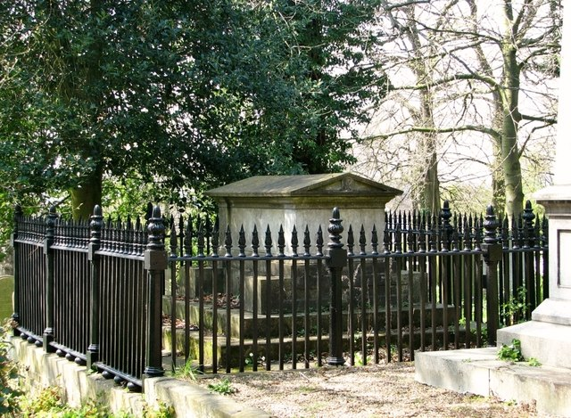 The vault of Richard Hanbury Gurney