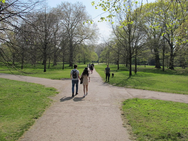 Paths and visitors, Kensington Gardens