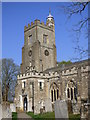 TQ5354 : St Nicholas Church in Sevenoaks, Kent by John P Reeves