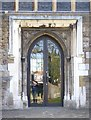TQ5354 : St Nicholas Church Door 1 in Sevenoaks by John P Reeves