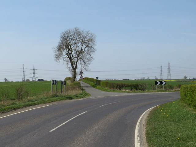 Road junction near Sedgefield