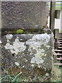 SD8974 : Bench mark on gatepost for Nether Hesleden by John S Turner