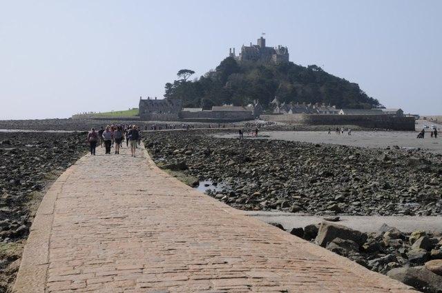 Causeway to St Michael's Mount