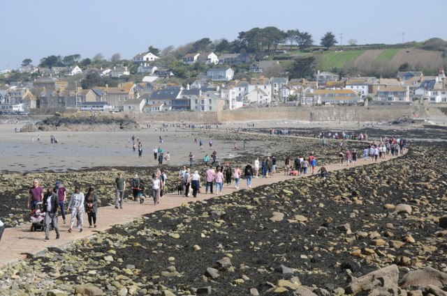 The causeway to St Michael's Mount on Good Friday