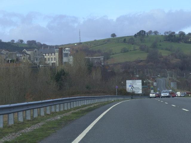 A469, Bargoed