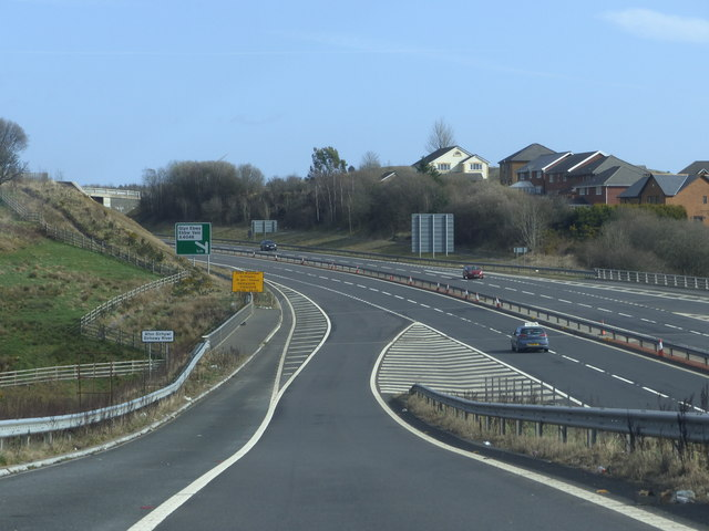 Joining the A465, Head of the Valleys Road