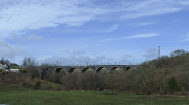 Nine Arches Viaduct spanning the Sirhowy River