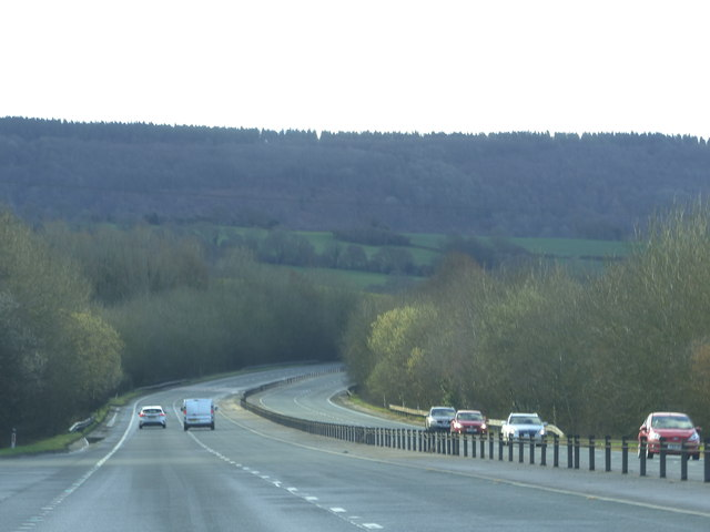The A449 at Llanllowell