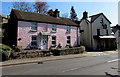 SO1422 : Pink cottage in Bwlch, Powys by Jaggery