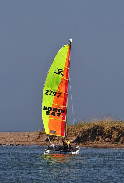 Sailing on the Tweed Estuary