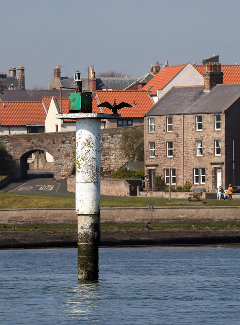 A navigational aid on the Tweed Estuary