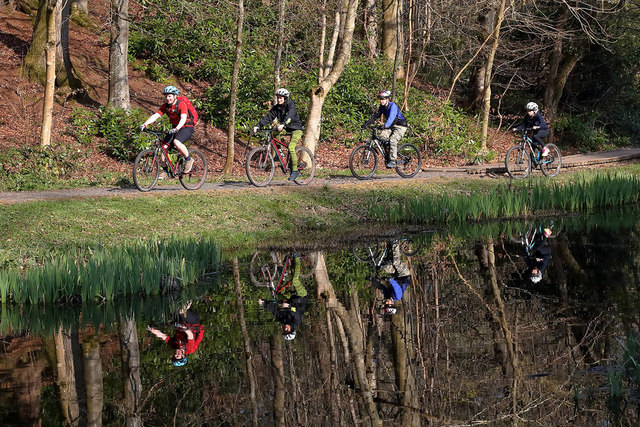 Cyclists in Gala Policies Woodlands