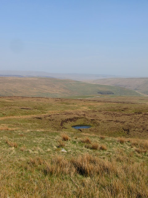 Pool of Water on the side of Fountains Fell