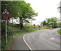 SN7909 : Reduce Speed Now, Neath Road, Ystradgynlais by Jaggery