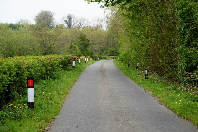 Markers along Falskey Road