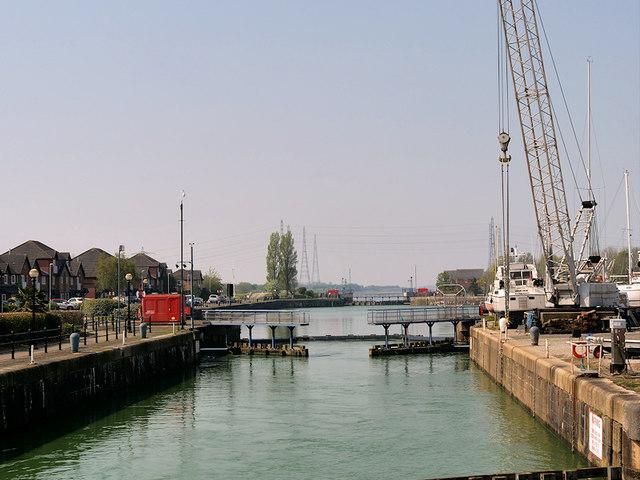 Lock at Preston Dock