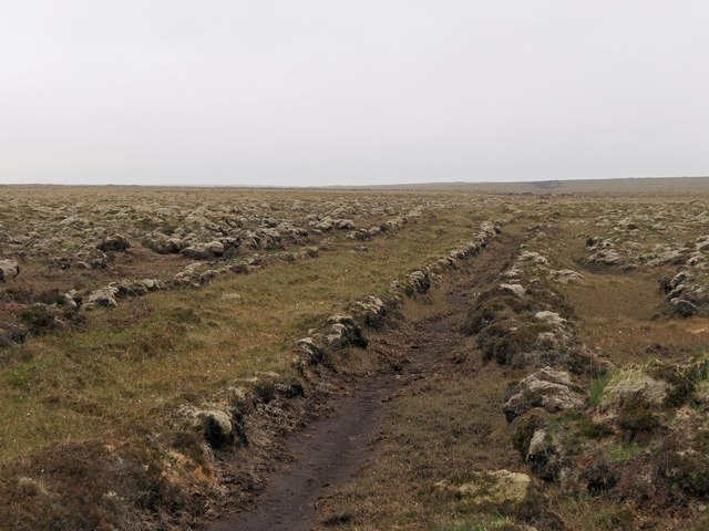 Dyke to the north of Loch Grasabhat, Isle of Lewis