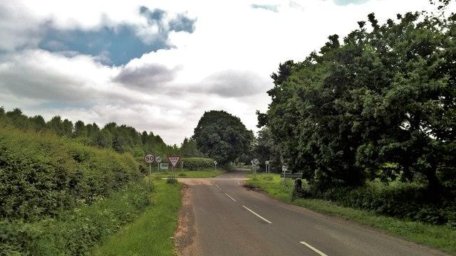Oaks Lane approaching Old Rufford Road