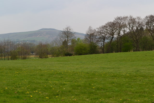 Roadside view near Bamford with Win Hill in the distance