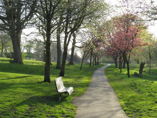 Spring colour in Backhouse Park, Sunderland