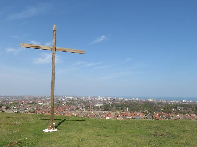 Easter cross on Tunstall Hills, Sunderland