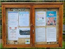 NO4203 : Notice Board, Upper Largo by Bill Kasman