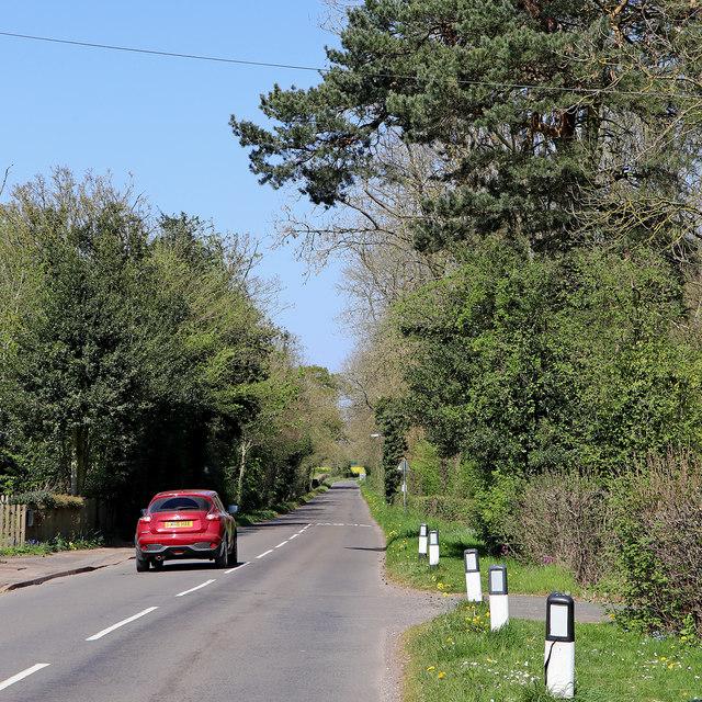 Burnhill Green Road in Staffordshire