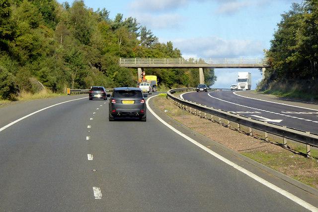 Bridge over the M90 near St Magdalene's Hill