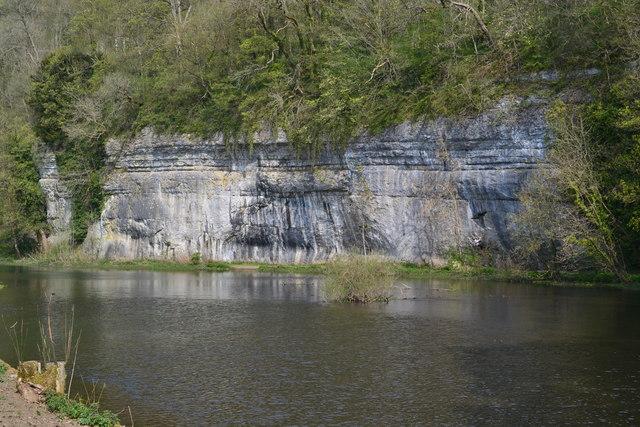Cliffs above Cressbrook mill pond