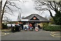 SH7877 : Conwy, Morfa Bach Car Park: Tourist orientated shop and toilets by Michael Garlick