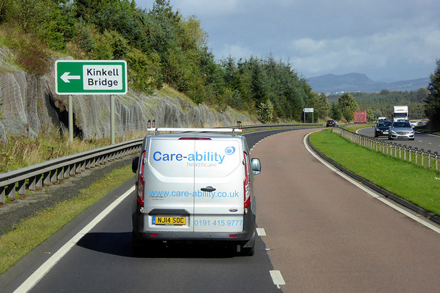 Northbound A9 towards Perth