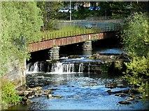 NS5666 : Old railway bridge over the River Kelvin by Richard Sutcliffe