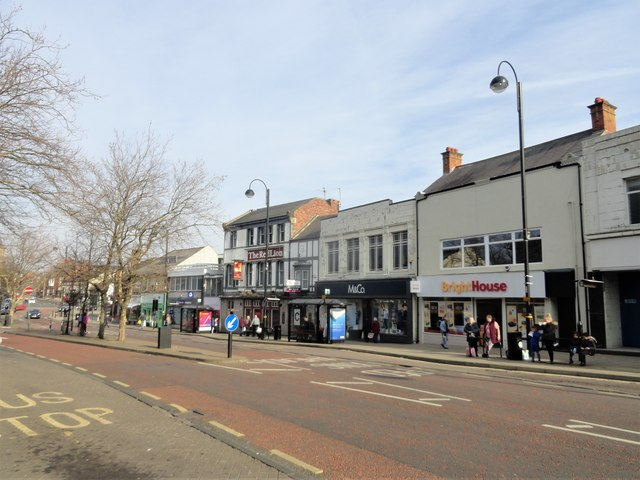 View along Front Street, Chester le Street