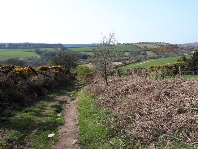 Public access route to minor road near Blackaton