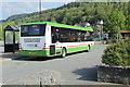 SJ0743 : Coastline coach on route 55 at Corwen by Richard Hoare