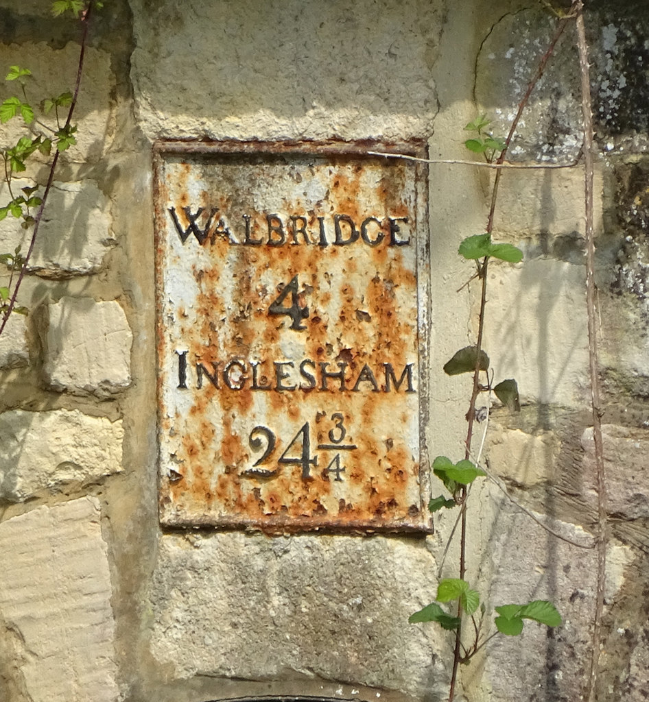 CHALFORD WHARF, (Plate on culvert wall)