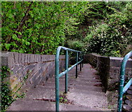 ST1599 : Steps down from Eastview Terrace, Bargoed by Jaggery