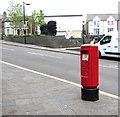 ST1599 : Queen Elizabeth II pillarbox, Cardiff Road, Bargoed by Jaggery