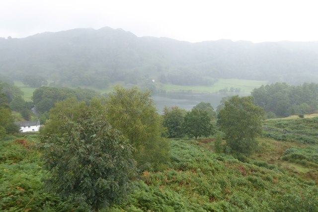Loughrigg in the mist and rain