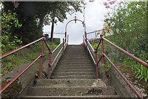 NT4935 : Steps up to Lawyer's Brae, Galashiels by Jim Barton