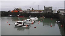 NW9954 : The inner harbour, Portpatrick by Richard Webb