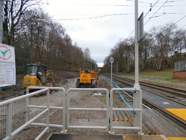 Metrolink Construction at Crumpsall, January 2019