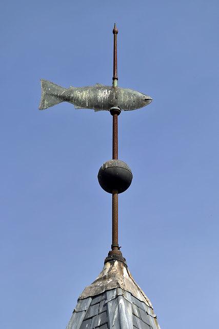 The weathervane at Tweedmouth Parish Church